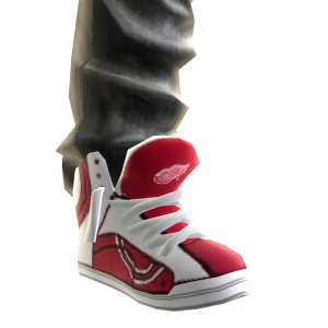 Red Wings Jeans and Sneakers