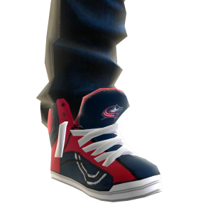 Blue Jackets Jeans and Sneakers