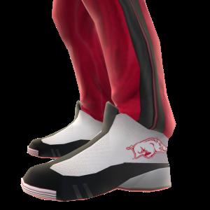 Arkansas Track Pants and Sneakers