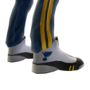 Blues Track Pants and Sneakers