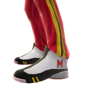 Maryland Track Pants and Sneakers