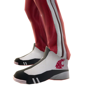 Washington State Track Pants and Sneakers