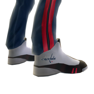 Capitals Track Pants and Sneakers