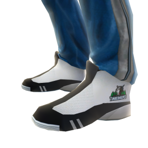 Timberwolves Track Pants and Sneakers