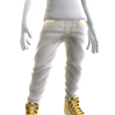 Bling Jeans and Sneakers - White