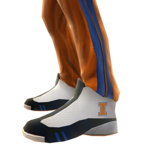 Illinois Track Pants and Sneakers