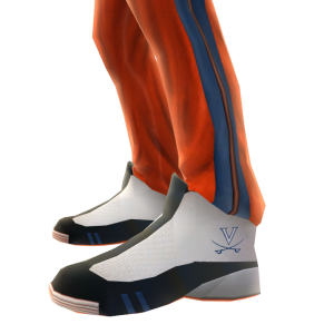 Virginia Track Pants and Sneakers