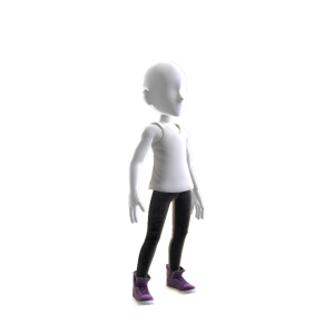 Skinny Jeans and Purple Shoes