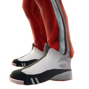 Ohio State Track Pants and Sneakers