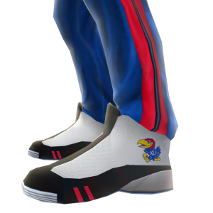 Kansas Track Pants and Sneakers