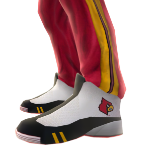 Louisville Track Pants and Sneakers