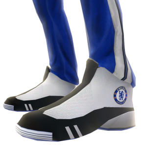 Chelsea Blue Track Pants and Sneakers