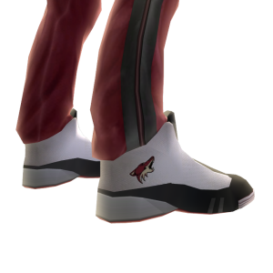 Coyotes Track Pants and Sneakers