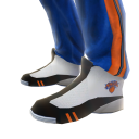 Knicks Track Pants and Sneakers