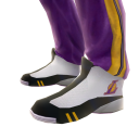 Lakers Track Pants and Sneakers