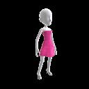Pinkfarbenes Volantkleid