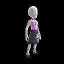 Kostium kobiety z lat 50
