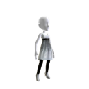 Elegantes silbernes Kleid