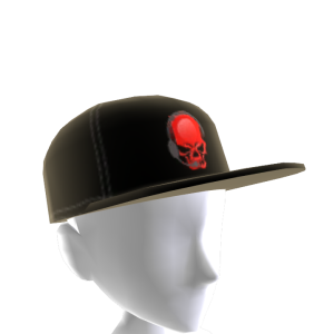 Epic Red Gamer Skull Hat