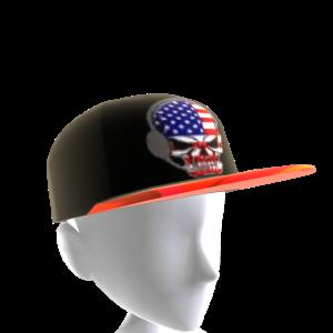 USA Gamer Skull Black Chrome Red
