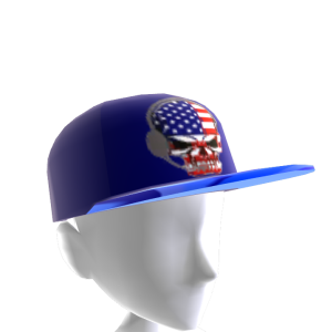 USA Gamer Skull Blue Chrome Blue