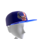 USA Gamer Skull Blue Chrome Blue