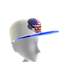 USA Gamer Skull White Chrome Blue