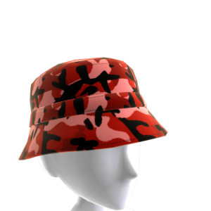 KKZ Red Camo Bucket Hat