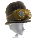 Sombrero de copa y gafas