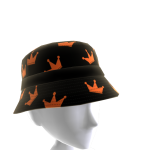 Orange and Black KKZ Crown Bucket Hat