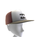 Flow Hat - White Burgundy