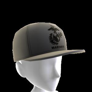 Marines Emblem Hat - Gray