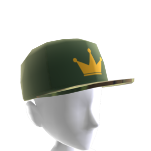 Green & Gold Crown Camo Snapback