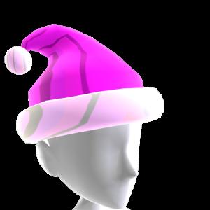 Hat Xmas Pink Chrome Santa
