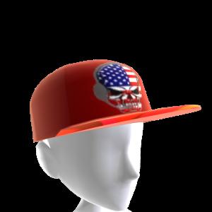 USA Gamer Skull Red Chrome Red