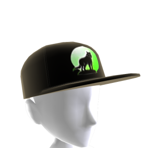 Green Wolf Howl Hat 2