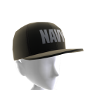 Navy Hat - Black