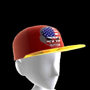 USA Gamer Skull Red Chrome Gold