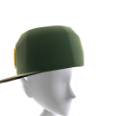Green & Gold Crown Camo Fitted Hat