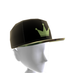 Black & Green Crown Camo Snapback