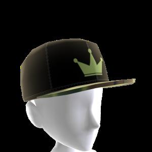 Black & Green Crown Camo Snapback