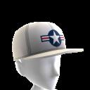 Air Force Stripes Hat - White