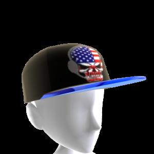 USA Gamer Skull Black Chrome Blue