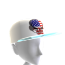 USA Gamer Skull White Chrome Silver