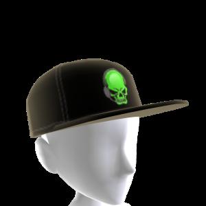Epic Green Gamer Skull Hat