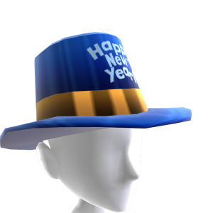 Happy New Year Blue Hat