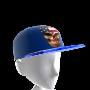 USA Skull Blue Chrome Blue