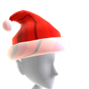 Hat Xmas Red Chrome Santa