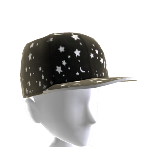 Black and White Stars and Moon Hat