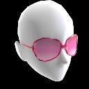 Gafas de sol en tono rosado